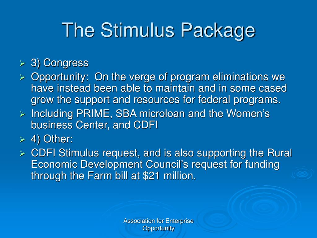 The Stimulus Package