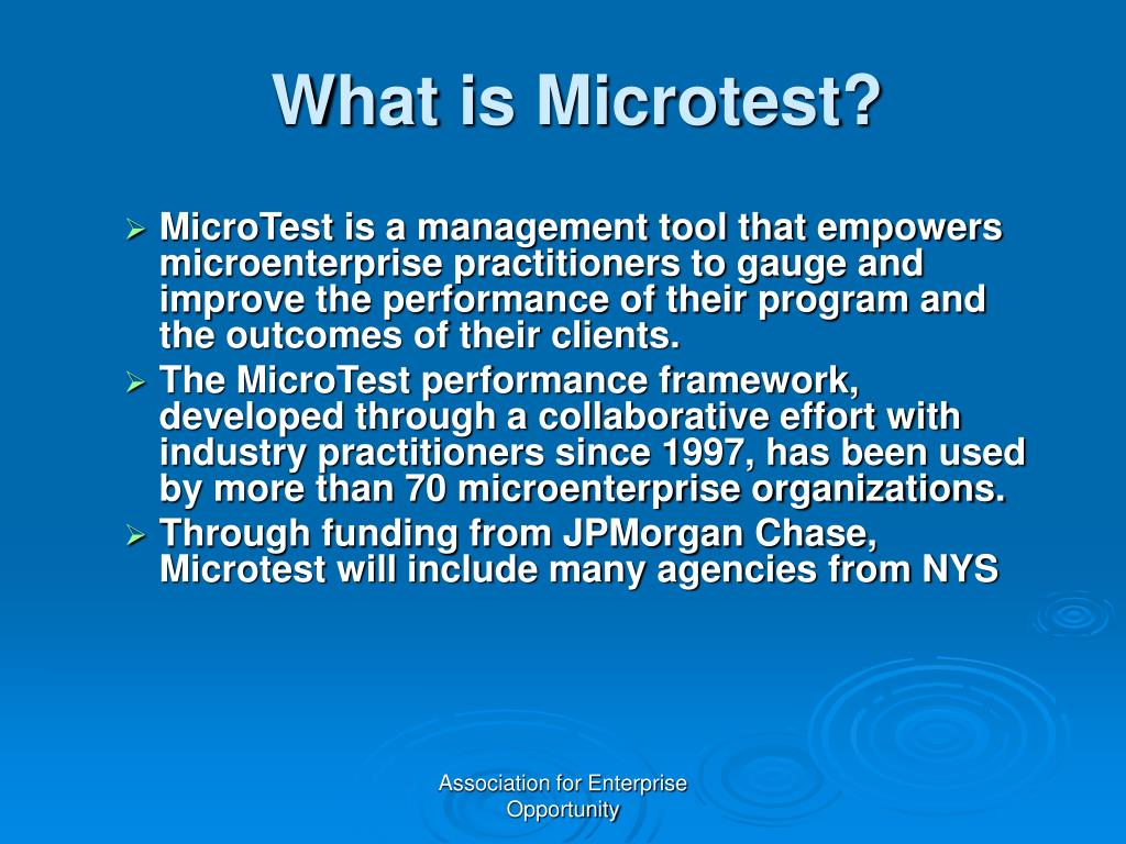 What is Microtest?