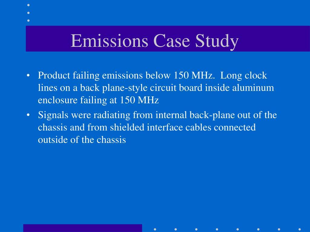 Emissions Case Study