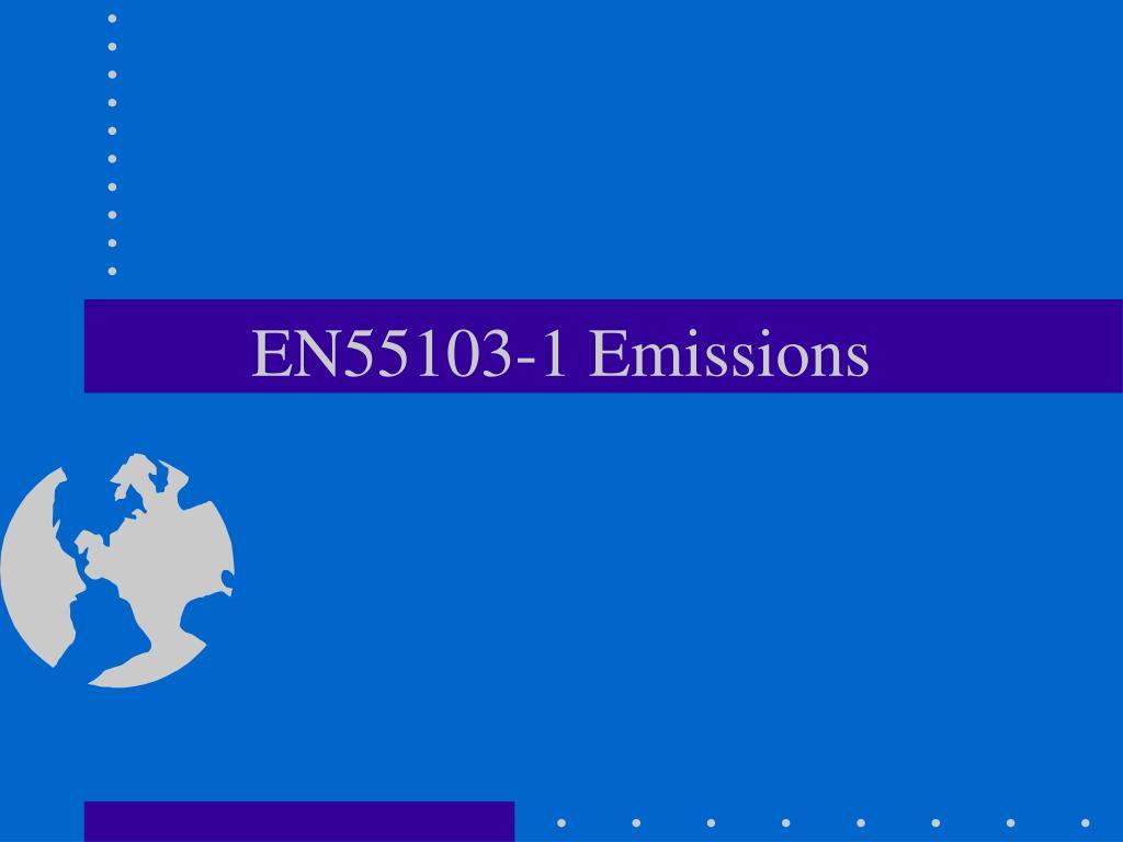 EN55103-1 Emissions