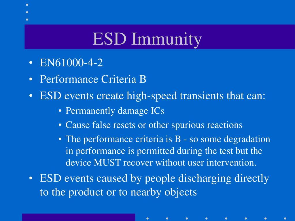 ESD Immunity