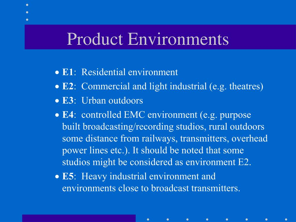 Product Environments