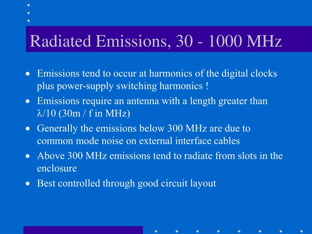 Radiated Emissions, 30 - 1000 MHz
