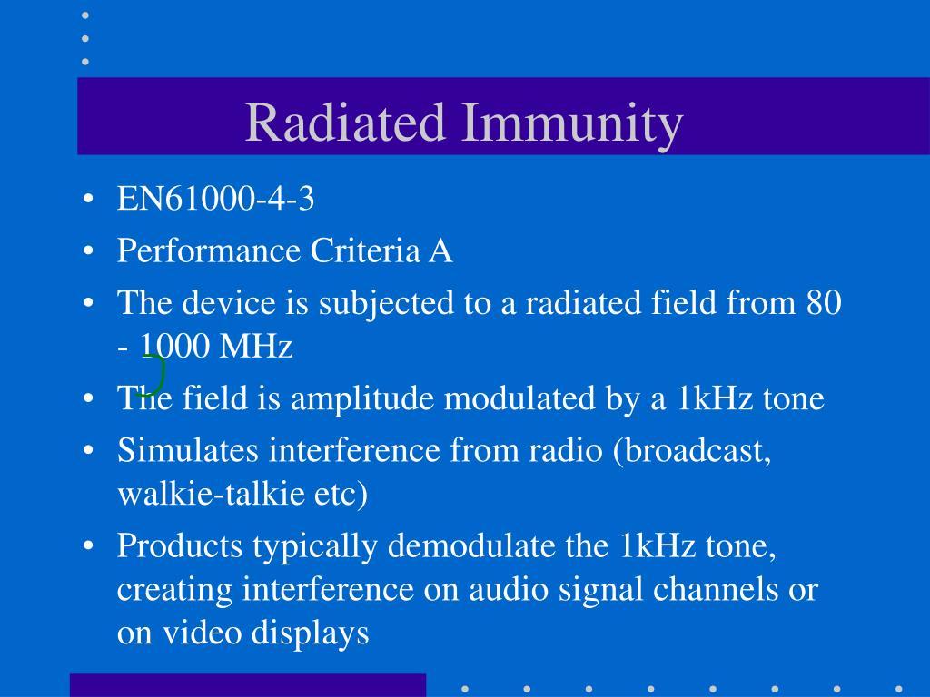 Radiated Immunity
