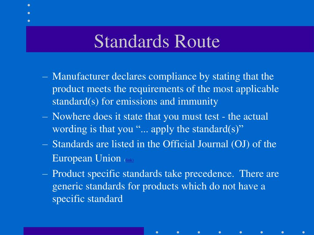 Standards Route