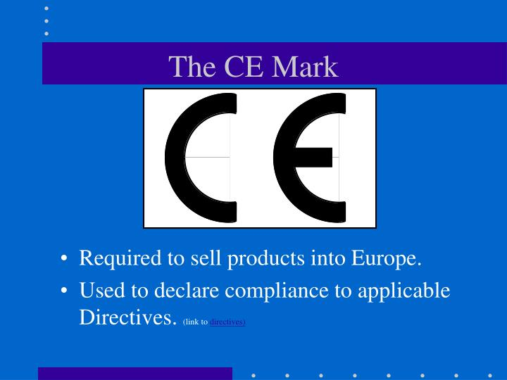 The ce mark
