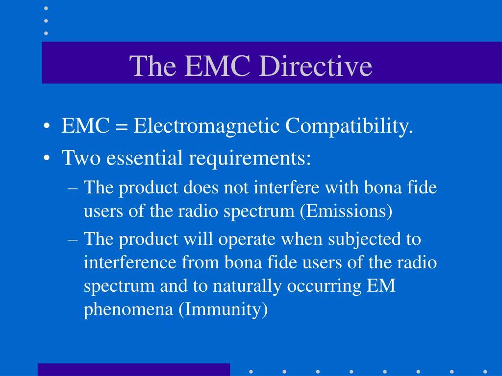 The EMC Directive