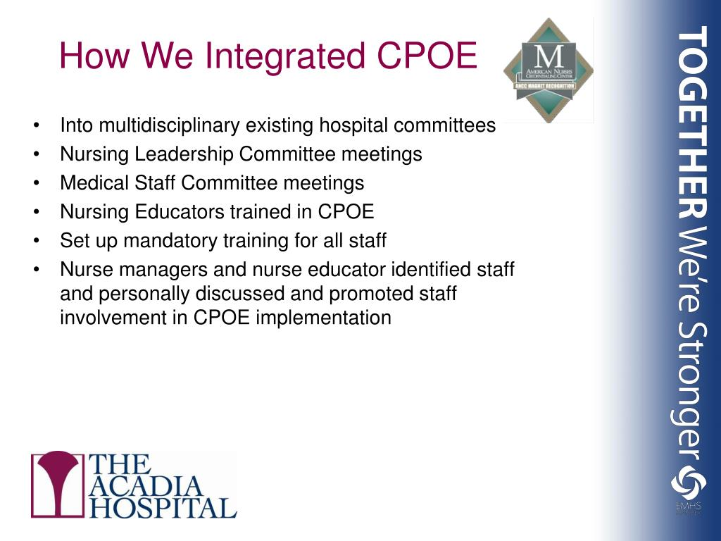 Into multidisciplinary existing hospital committees