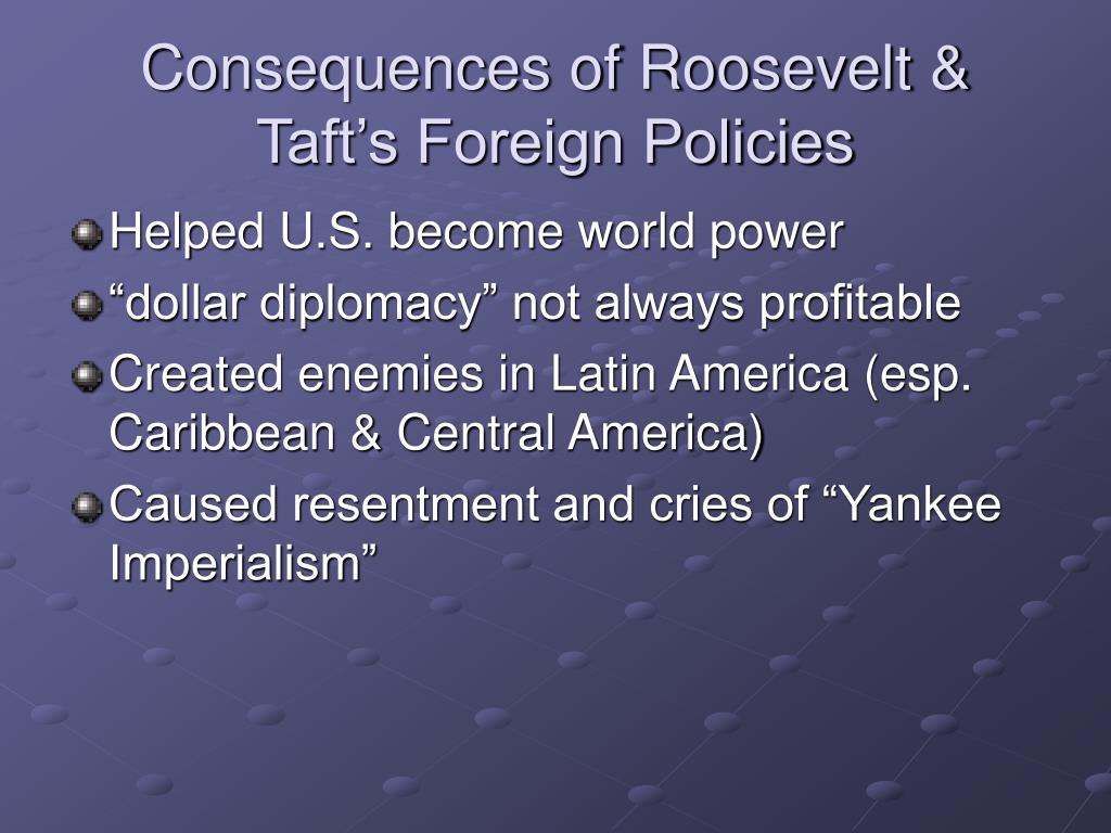 Consequences of Roosevelt & Taft's Foreign Policies