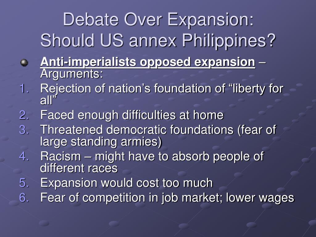 Debate Over Expansion: