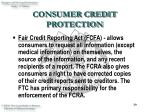 consumer credit protection39