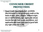consumer credit protection41