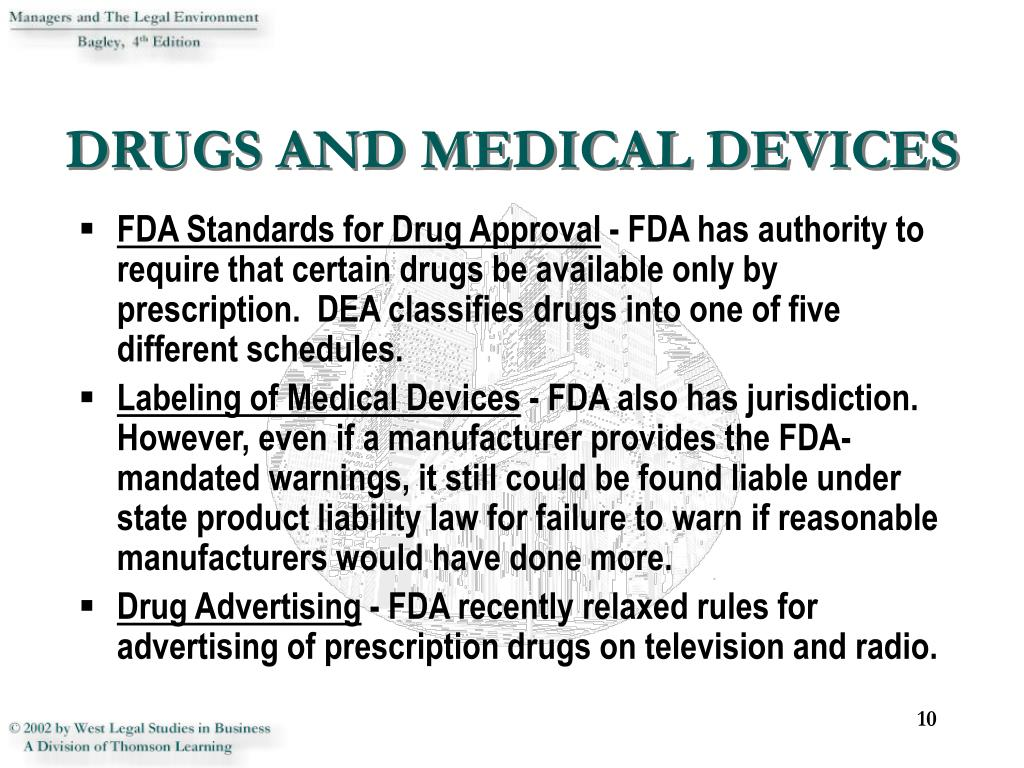 DRUGS AND MEDICAL DEVICES