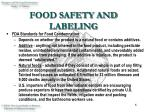 food safety and labeling6