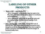 labeling of other products14