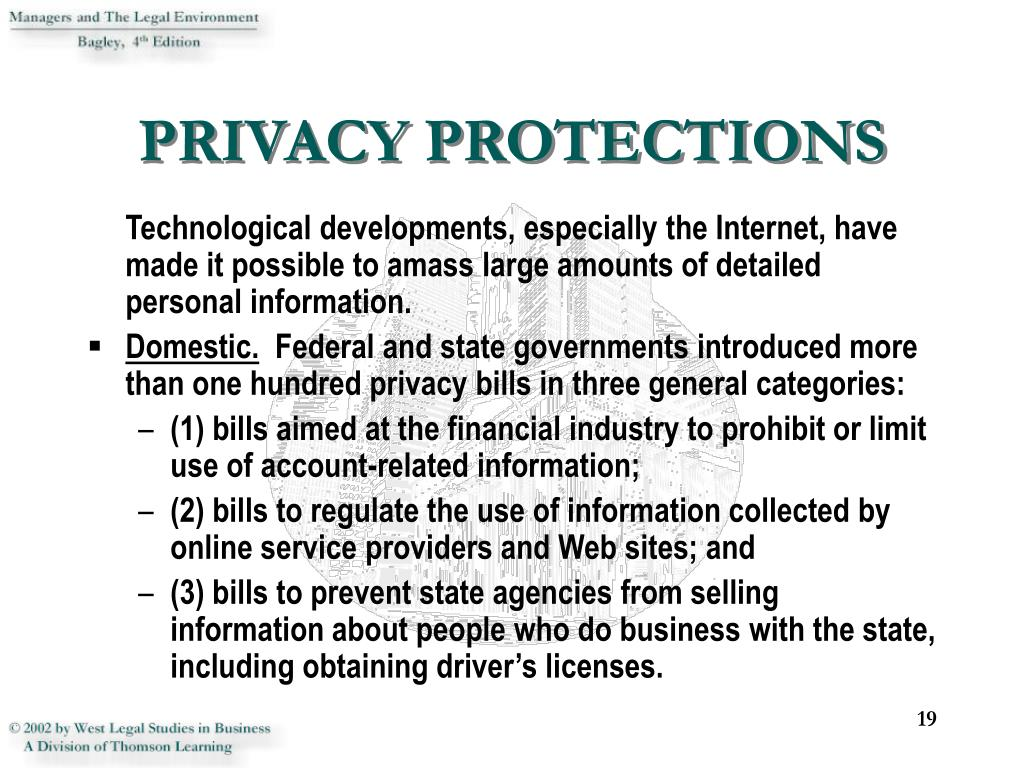 PRIVACY PROTECTIONS