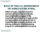 role of the u s department of agriculture usda