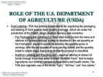 role of the u s department of agriculture usda9