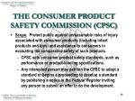the consumer product safety commission cpsc