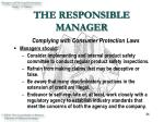 the responsible manager46