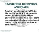 unfairness deception and fraud