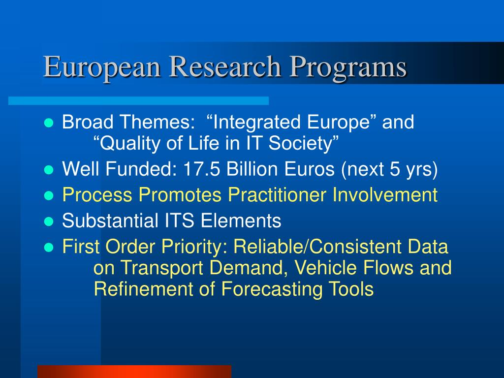 European Research Programs