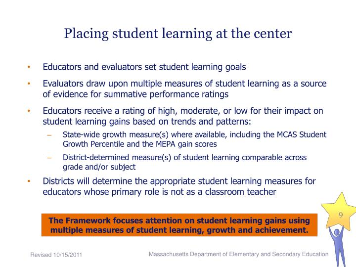 Placing student learning at the center