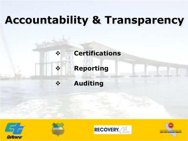 Accountability & Transparency