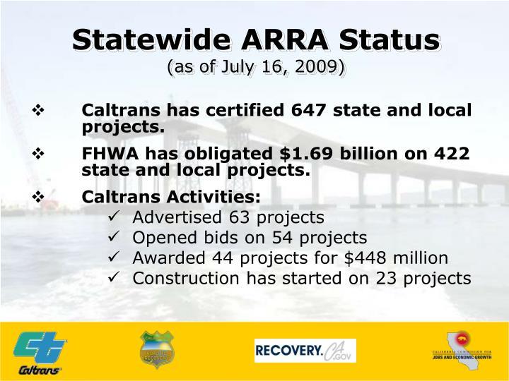 Statewide ARRA Status