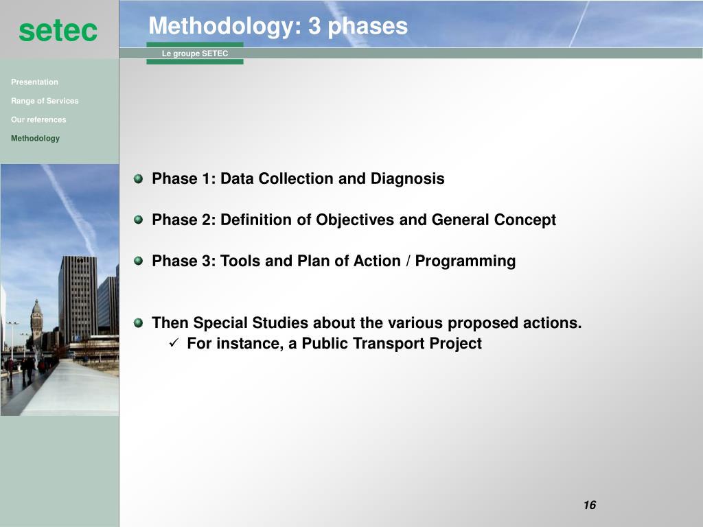 Methodology: 3 phases