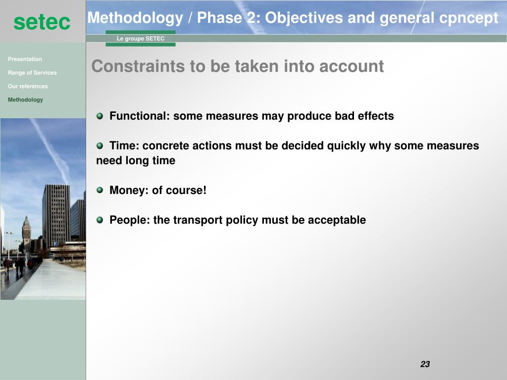 Methodology / Phase 2: Objectives and general cpncept