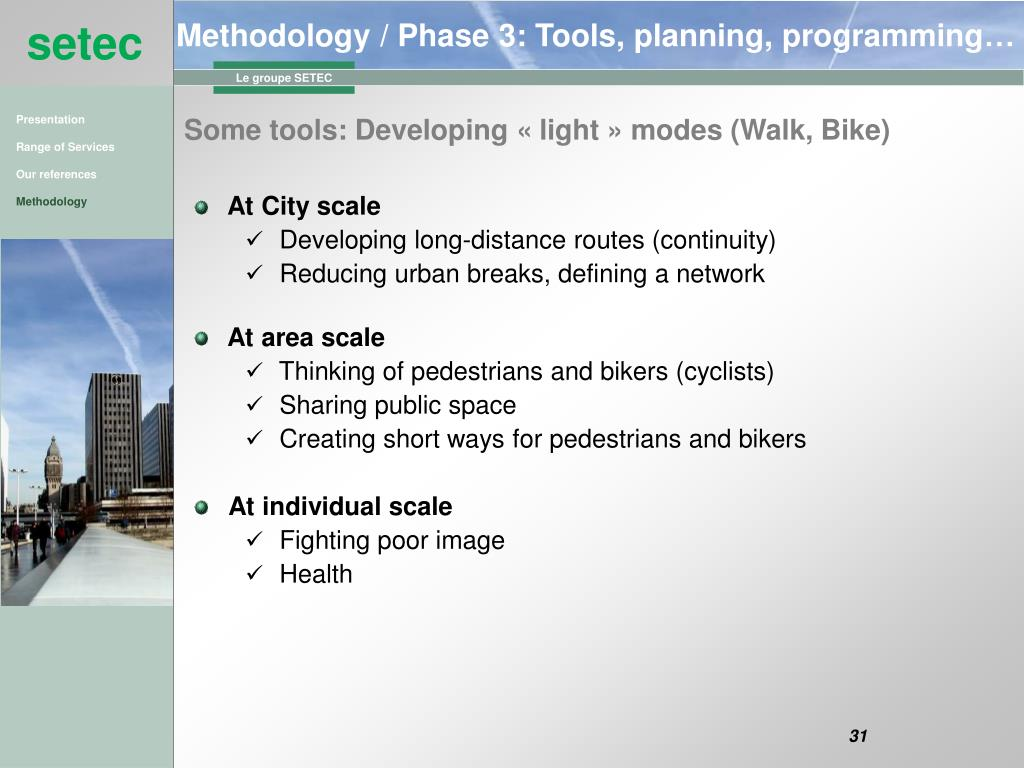 Methodology / Phase 3: Tools, planning, programming…