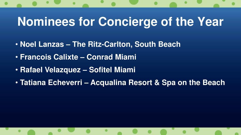 Noel Lanzas – The Ritz-Carlton, South Beach