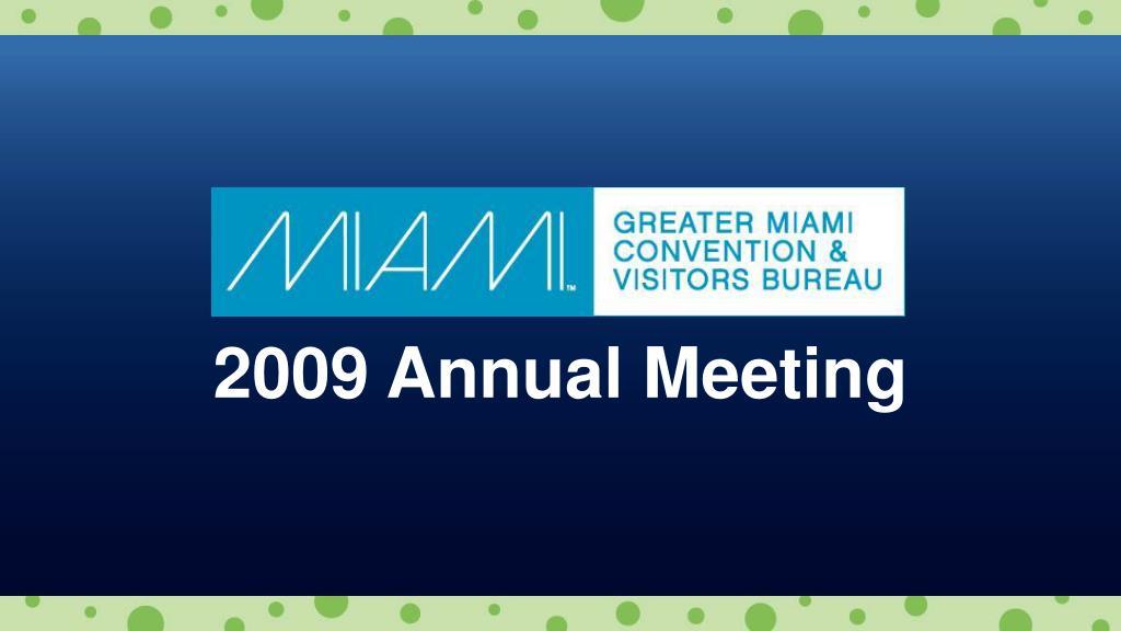 2009 Annual Meeting