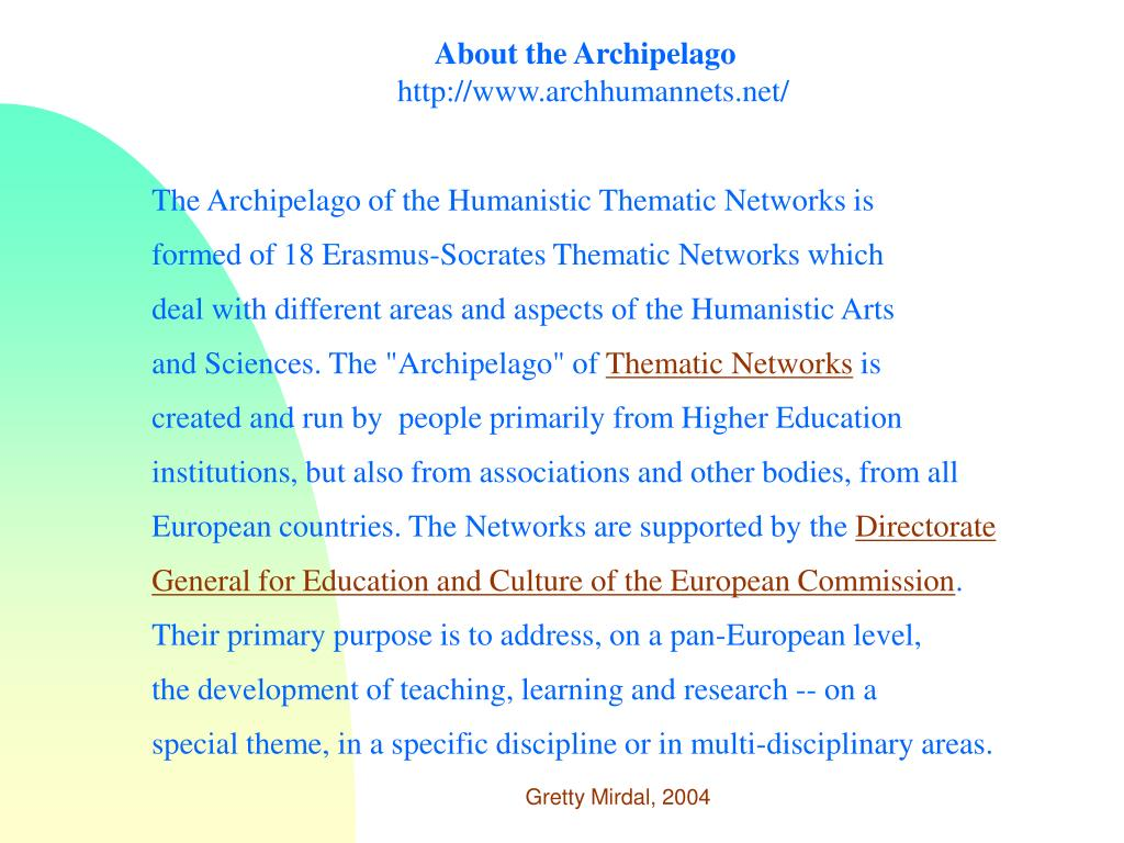 About the Archipelago