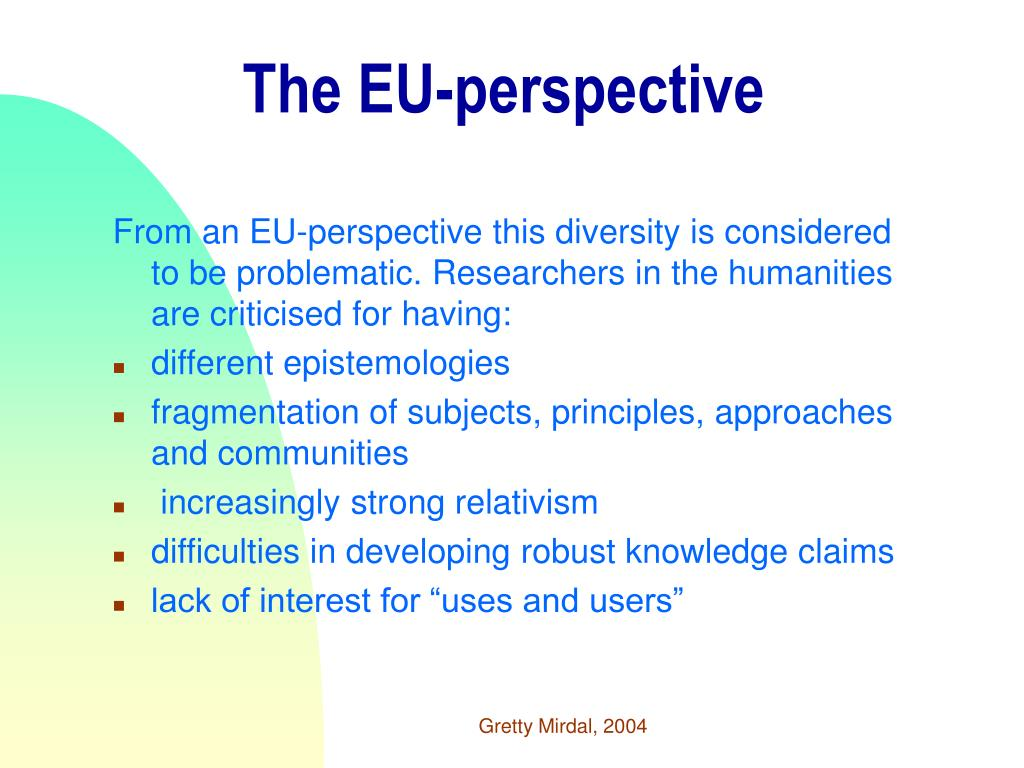 The EU-perspective
