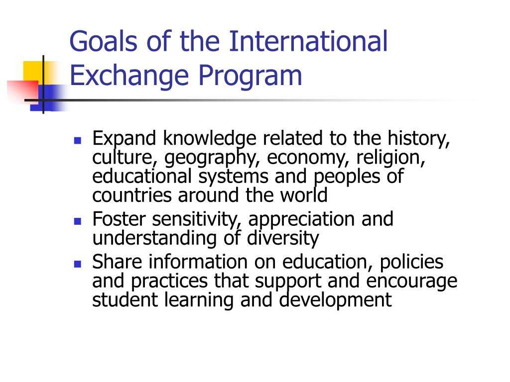 Goals of the International Exchange Program