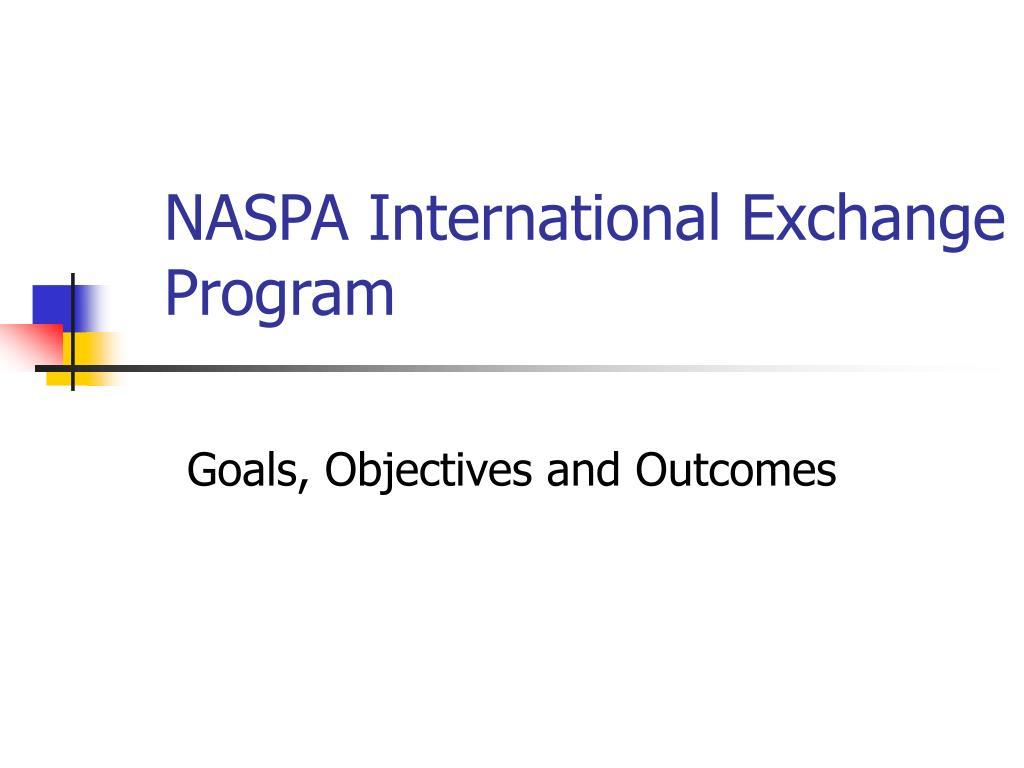 NASPA International Exchange Program