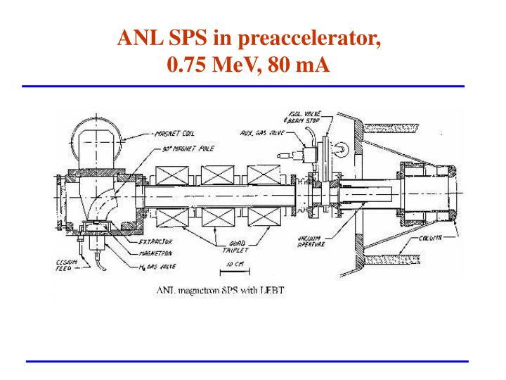 ANL SPS in preaccelerator,