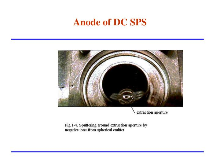 Anode of DC SPS