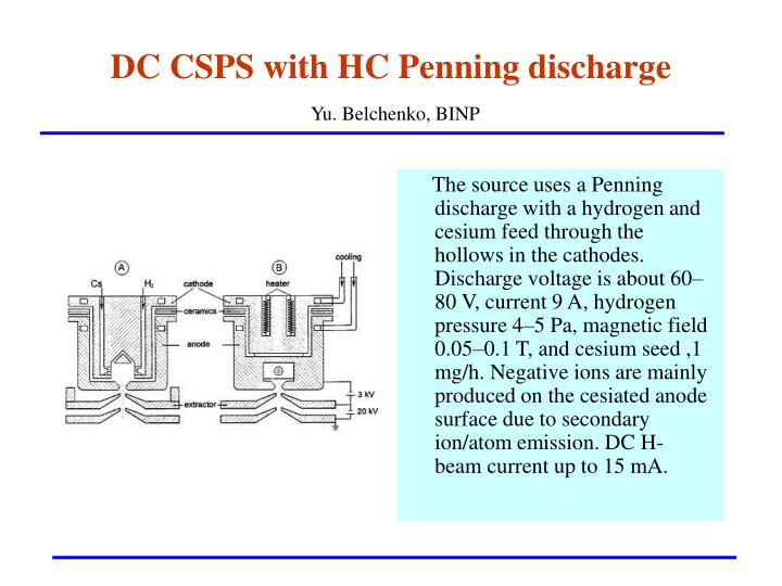 DC CSPS with HC Penning discharge