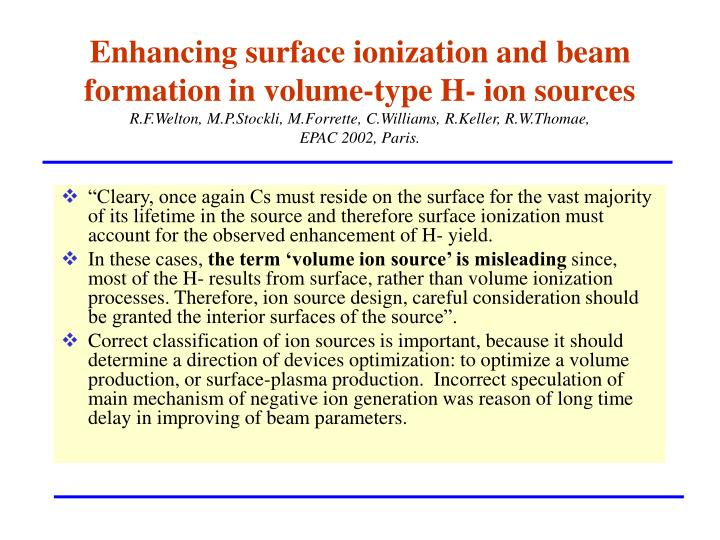 Enhancing surface ionization and beam formation in volume-type H- ion sources