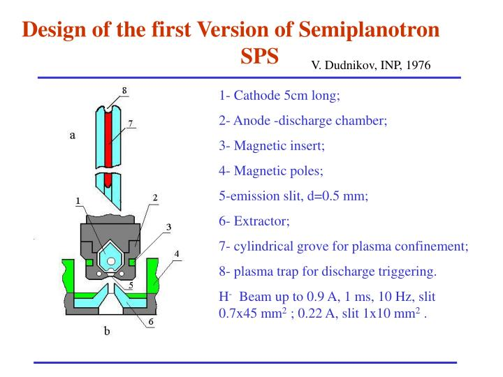 Design of the first Version of Semiplanotron