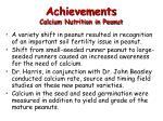 achievements calcium nutrition in peanut