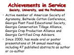 achievements in service society university and the profession1