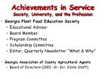 achievements in service society university and the profession10