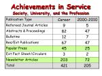 achievements in service society university and the profession2