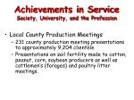 achievements in service society university and the profession6