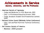 achievements in service society university and the profession8