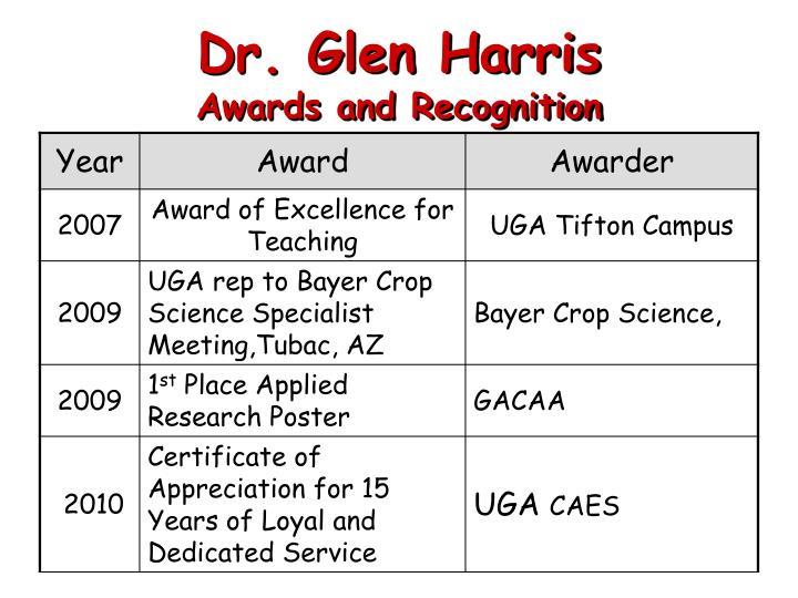 Dr. Glen Harris